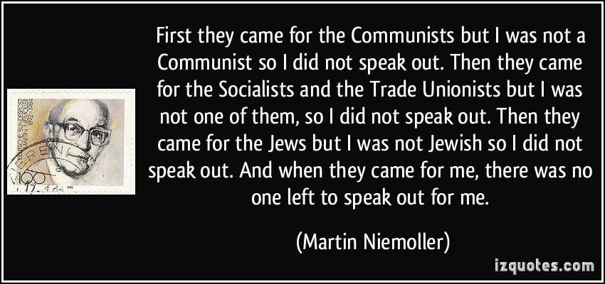 Niemoller quote